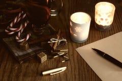 Boże Narodzenia piszą list z pikantność Fotografia Stock