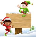 Boże Narodzenia podpisują ilustrację Obrazy Royalty Free