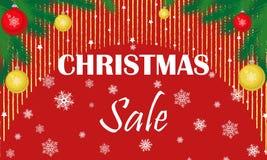 Boże Narodzenia pomijają, sprzedaż sztandar również zwrócić corel ilustracji wektora royalty ilustracja