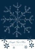 Boże Narodzenia projektują z płatkami śniegu Zdjęcia Royalty Free
