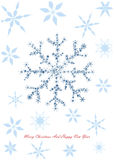 Boże Narodzenia projektują z płatkami śniegu Zdjęcia Stock