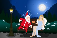 boże narodzenia przedstawiają s Santa Obrazy Royalty Free