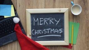 Boże Narodzenia przy biurem fotografia royalty free