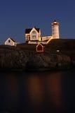 Boże Narodzenia przy latarnią morską Zdjęcie Stock