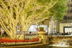 Boże Narodzenia przy zakupy centrum handlowym, Glendale Galleria zdjęcia royalty free