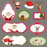 Boże Narodzenia przylepiają etykietkę set Zdjęcia Royalty Free