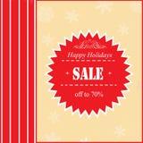 Boże Narodzenia przylepiają etykietkę z sprzedaży ofertą Obrazy Stock