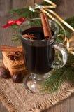 Boże Narodzenia rozmyślający wino Zdjęcie Stock