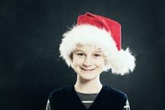 Boże Narodzenia Santa dziecka kapelusz się uśmiecha obrazy stock