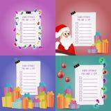 Boże Narodzenia Spisują set Obraz Royalty Free