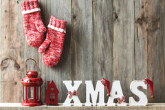 Boże Narodzenia stwarzają ognisko domowe wystrój Zdjęcia Royalty Free
