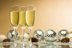 Boże Narodzenia, szampan, przyjęcie Zdjęcie Royalty Free