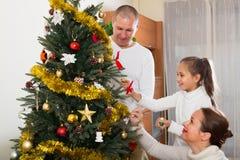 boże narodzenia target2371_0_ rodzinnego drzewa Zdjęcia Stock