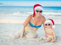 Boże Narodzenia tropikalni obraz royalty free