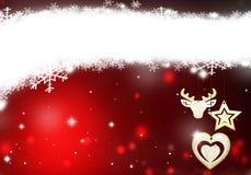 Boże Narodzenia umieszczają dla tekst gwiazd tła czerwonego teksta bożych narodzeń tła śnieżnej ilustraci ilustracja wektor