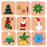 Boże Narodzenia ustawiający Ilustracja Wektor