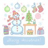 Boże Narodzenia ustawiający Fotografia Stock