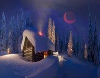 Boże Narodzenia w Carpathians Obrazy Royalty Free