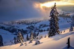 Boże Narodzenia w Czarnego lasu zimie w Todtnauberg śniegu Obrazy Stock