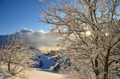 Boże Narodzenia w Czarnego lasu zimie w Todtnauberg śniegu Obrazy Royalty Free