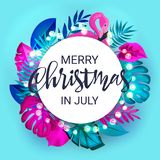 Boże Narodzenia w Lipiec sprzedaży marketingowym szablonie EPS 10 wektor Obrazy Stock