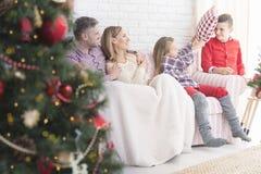Boże Narodzenia w rodzinie obraz royalty free