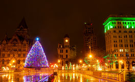 Boże Narodzenia w Syracuse obraz stock