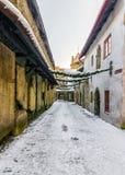 Boże Narodzenia w Tallinn śnieżne aleje stary Tallinn Fotografia Royalty Free