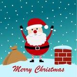 boże narodzenia wesoło Santa Fotografia Stock