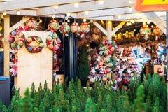 Boże Narodzenia Wprowadzać na rynek blisko urzędu miasta na Albert kwadracie w Machester Fotografia Stock