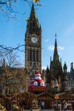 Boże Narodzenia Wprowadzać na rynek blisko urzędu miasta na Albert kwadracie w Machester Obraz Royalty Free