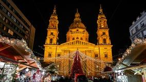 Boże Narodzenia wprowadzać na rynek Budapest, Węgry - fotografia royalty free