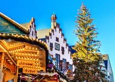 Boże Narodzenia Wprowadzać na rynek Frankfurt magistrala, Niemcy - Am - Zdjęcia Stock