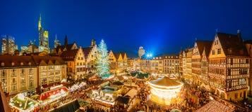 Boże Narodzenia wprowadzać na rynek w Frankfurt Fotografia Royalty Free