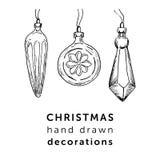 Boże Narodzenia wręczają patroszone dekoracje w prostym stylu dla twój holida Obraz Royalty Free
