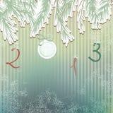 Boże Narodzenia wręczają patroszonego futerkowego drzewnego projekt. + EPS8 Zdjęcie Royalty Free