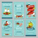 Boże Narodzenia Wręczają Patroszonego plakata set Zdjęcie Royalty Free