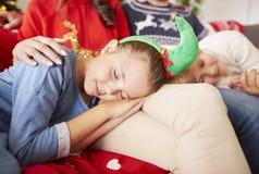Boże Narodzenia z rodziną Obrazy Royalty Free