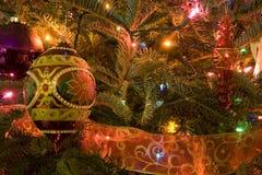 boże narodzenia zamykają drzewa drzewo Obrazy Royalty Free