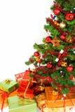 boże narodzenia zamykają drzewa uo Zdjęcia Stock