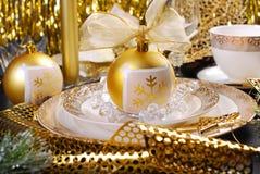 Boże Narodzenia zgłaszają dekorację w splendoru stylu Zdjęcia Royalty Free