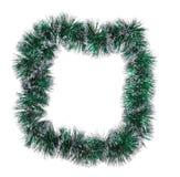 Boże Narodzenia zielenieją świecidełko jak rama. Fotografia Stock