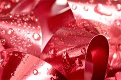 Boże Narodzenie łęku zakończenie up w czerwieni Obrazy Stock