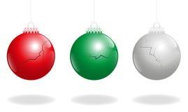 Boże Narodzenie łamane piłki Obraz Royalty Free