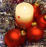 Boże Narodzenie świeczka Fotografia Stock