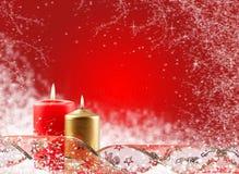 Boże Narodzenie świeczka Zdjęcia Royalty Free