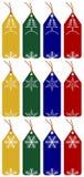 Boże Narodzenie 12 etykietki Fotografia Royalty Free