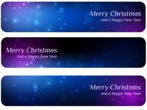 Boże Narodzenie abstrakcjonistyczni sztandary Zdjęcie Stock