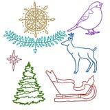 Boże Narodzenie błyskotliwości set Zdjęcie Stock