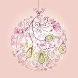 boże narodzenie balowy ornament ilustracji